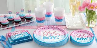 gender reveal party decorations girl or boy gender reveal party supplies party city