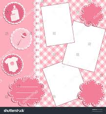 baby photo album baby album page vector illustration stock vector 77719168