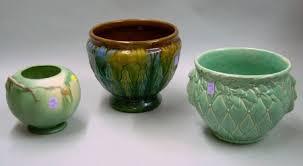 Roseville Pinecone Vase Mccoy Pottery Jardiniere Roseville Pinecone Vase And A Majolica