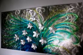 original home decor wall decoration green flower art abstract acrylic paintings on
