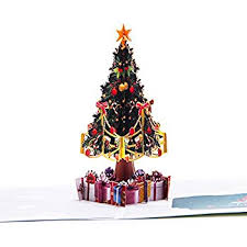 tree pop up greeting card pop up