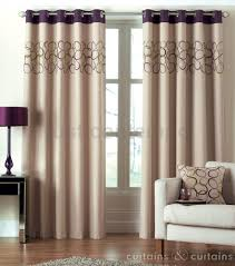 Danielle Eyelet Curtains by Hoops Aubergine Purple Eyelet Ring Top Curtain Green Curtains
