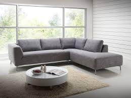 canapé d angle tissu salon canapé d angle design avec méridienne en tissu gris narbonne
