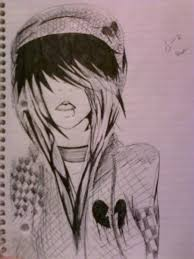 random emo drawing by alliooops on deviantart