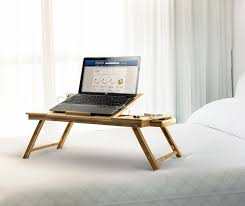 bamboo adjustable laptop stand up to 15in tablet reading table desk