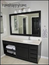 Grey And Black Bathroom Ideas Appealing Painting Bathroom Cabinet White Ideas Of Cabinets Black