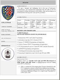 Resume Format For Electronics Engineering Student Resume Format In Word