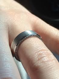 custom mens wedding bands a custom mens wedding band with diamond accents protea diamonds