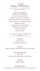wedding reception program template awesome sle wedding reception program pictures styles ideas