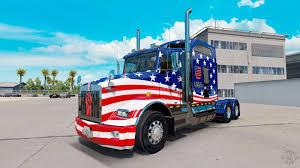 kenworth usa skin stripes v5 0 tractor kenworth t800 for american truck simulator