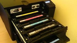 hp laserjet pro 200 colour m251n printer youtube