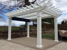 Pergola With Shade by Pergolas Indianapolis Recreation Unlimited