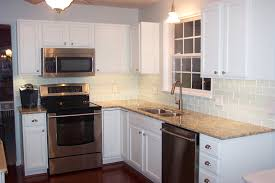 Led Backsplash Cost by Home Design Backsplash Ideas Cream Cabinets Corian Countertops