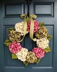 wreaths hydrangea wreath front door wreaths