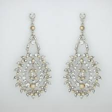 and pearl chandelier earrings niagara bridal chandelier earrings by vintage pearl