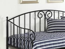 hamden metal daybed in black w twin trundle