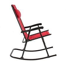 Patio Furniture In Ontario Ca by Folding Rocking Chair Foldable Rocker Outdoor Patio Furniture Red