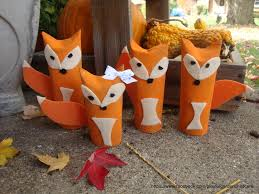 Halloween Paper Towel Roll Crafts Feeling Foxy Our Red Foxes Made From Paper Towel U0026 Tp Rolls