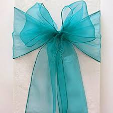 turquoise chair sashes mds 100 pieces light teal organza organza chair sashes