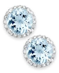 aquamarine stud earrings make sure your something blue is also something sparkly beautiful