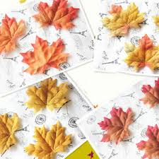 100 fall silk leaves wedding favor maple leaf autumn thanksgiving
