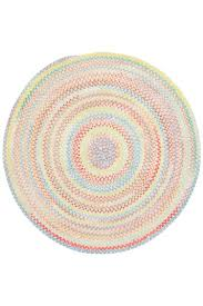 Round Natural Rug by Natural Baby U0027s Breath Braided Chenille Rug Cottage Home
