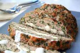 feta stuffed turkey meatloaf with tzatziki sauce low carb all