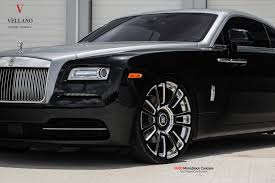 roll royce wraith on rims vellano forged wheels