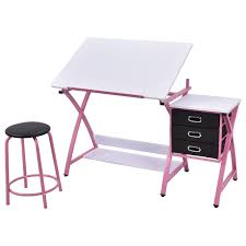 Foldable Drafting Table Costway Rakuten Costway Drafting Table Craft Drawing Desk