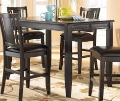 dining room ashley dining table black counter height dining set
