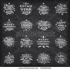 New Year Decoration On Blackboard by Chalk Happy New Year Stock Images Royalty Free Images U0026 Vectors