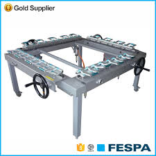 adjudtable cheap silk screen printing mesh stretching machine