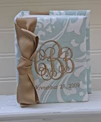 monogrammed photo album monogrammed picture holder