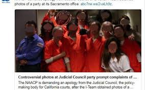 halloween office party background apology demanded after photos of judicial council employees