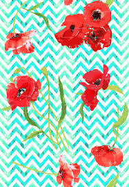 cute scarecrow wallpaper aqua watercolor chevron and poppies wallpaper katarina spoonflower