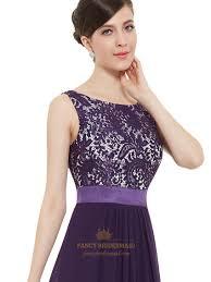 purple lace bridesmaid dress purple chiffon lace bodice chiffon skirt floor length bridesmaid