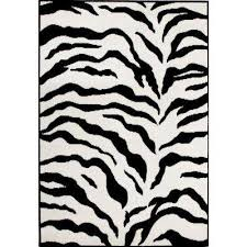 Zebra Print Rug With Pink Trim Animal Print Area Rugs Rugs The Home Depot