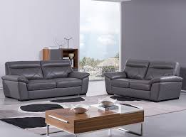 Light Gray Leather Sofa by Beverly Hills Leather Sofa S173