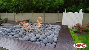 Fire Pit With Lava Rocks - outdoor fire pit rolled lava stone youtube