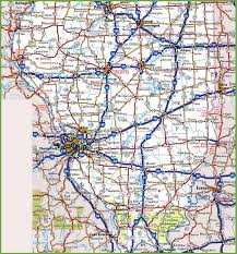 Illinois Interstate Map by Map Of Southern Illinois
