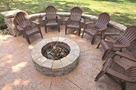 Patio And Firepit B T Klein S Landscaping Hardscapes Firepits