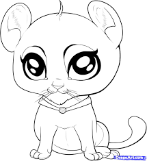 dragoart cute coloring pages how to draw a baby tiger step 8