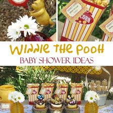 winnie the pooh baby shower ideas games food favors u0026 decorations