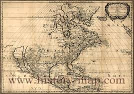 Old Map Map Of North America