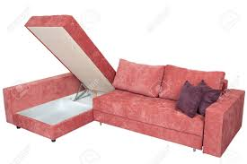 sofa bed pink corner convertible sofa bed with storage space upholstery soft