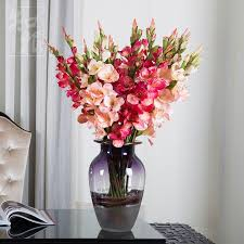 new artificial flowers for wedding decorations fake silk gladiolus