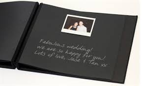 black guest book instant albums party supplies