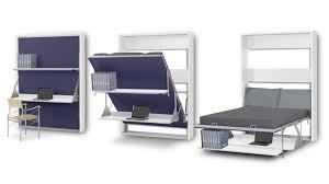 bureau escamotable lit bureau pliable 2 places matrix gagnez du rangement sur mobilier