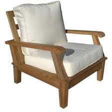 Lounge Armchair Royal Teak Miami Reclining Outdoor Lounge Chair Hayneedle