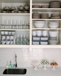 Open Cabinet Kitchen Ideas Open Shelving In Kitchen Ideas Home Decor Gallery